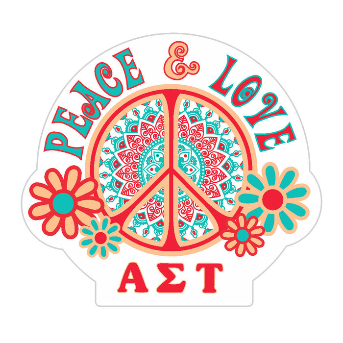 Alpha Sigma Tau Peace Sticker