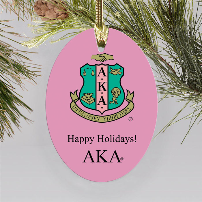 Alpha Kappa Alpha Color Crest Ornament