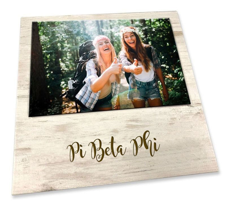 Pi Beta Phi Script Wood Picture Frame