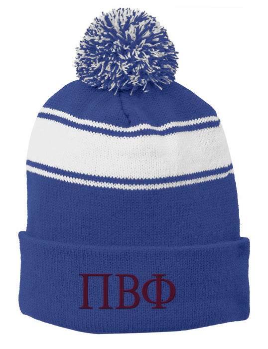Pi Beta Phi Embroidered Pom Pom Beanie