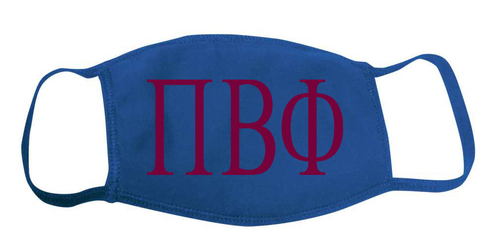 Pi Beta Phi Face Mask With Big Greek Letters