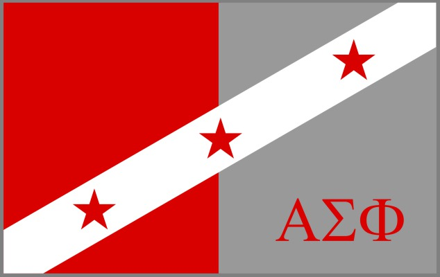 Alpha Sigma Phi Fraternity Flag Sticker
