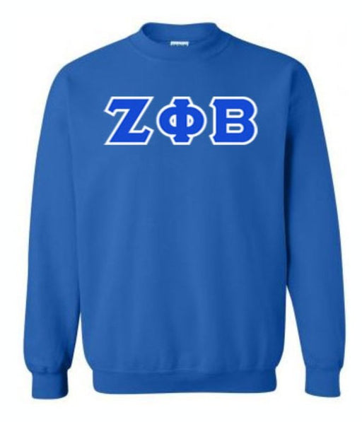 Zeta Phi Beta Classic Colors Sewn-On Letter Crewneck