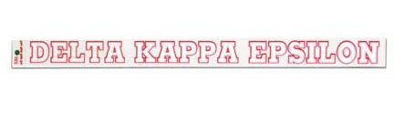 Delta Kappa Epsilon Back Of The Window Long Sticker