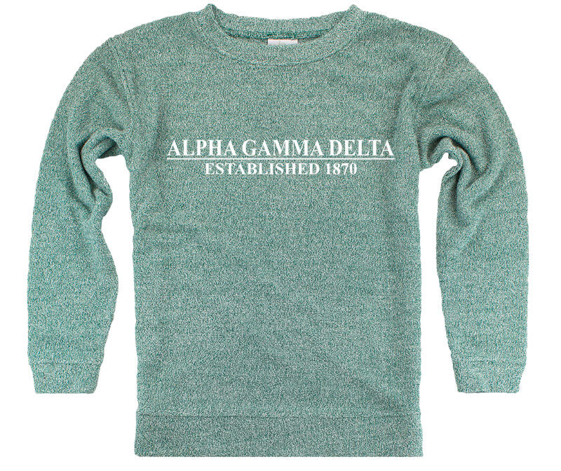 Alpha Gamma Delta Year Established Cozy Sweater