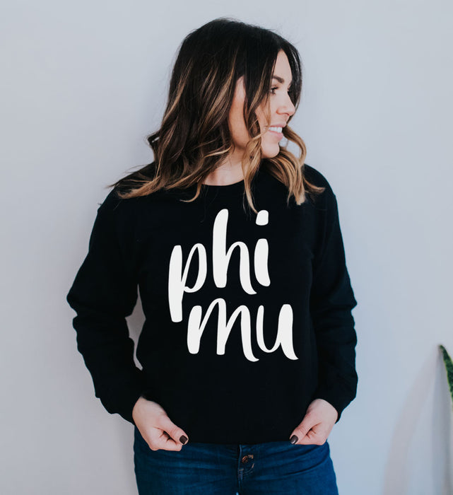 Phi Mu Superscript Crewneck Sweatshirt
