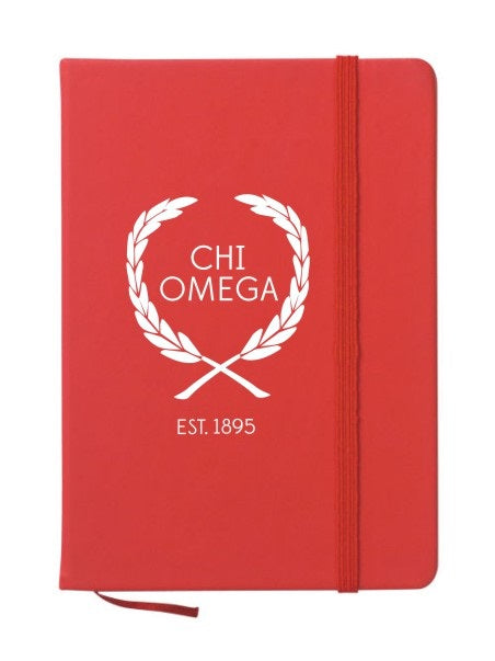 Chi Omega Laurel Notebook
