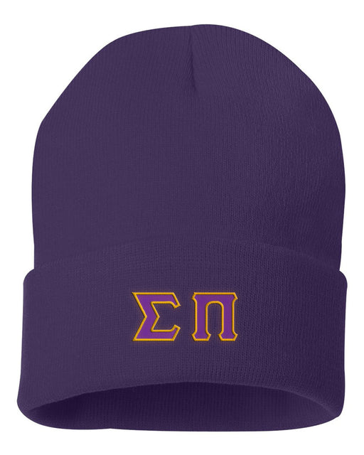 Sigma Pi Lettered Knit Cap