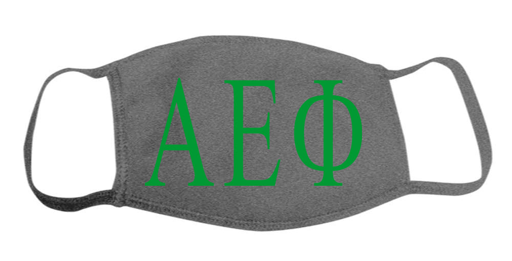 Alpha Epsilon Phi Face Mask With Big Greek Letters