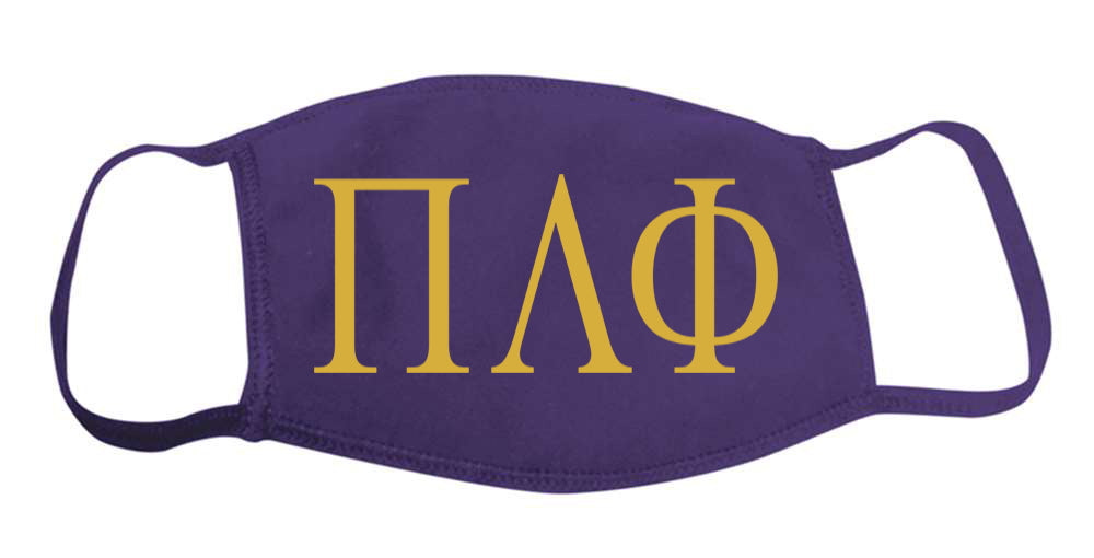 Pi Lambda Phi Face Mask With Big Greek Letters