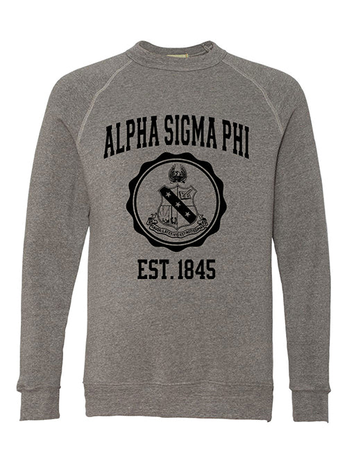 Alpha Sigma Phi Alternative Eco Fleece Champ Crewneck Sweatshirt