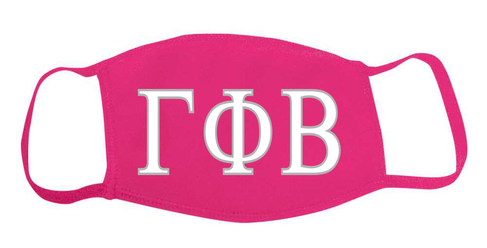 Gamma Phi Beta Face Mask With Big Greek Letters