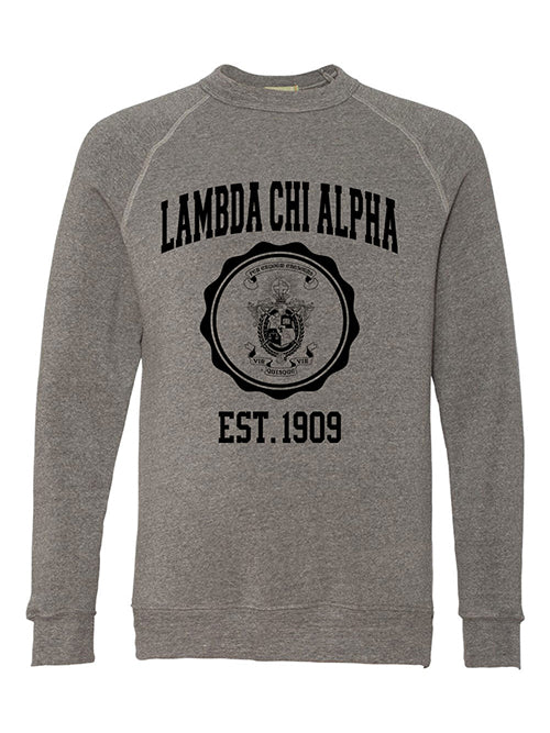 Lambda Chi Alpha Alternative Eco Fleece Champ Crewneck Sweatshirt