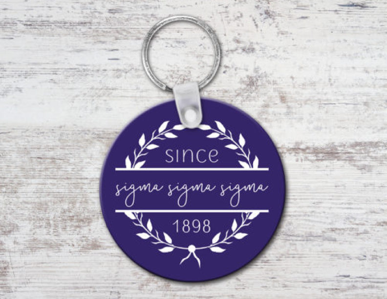 Sigma Sigma Sigma Since Established Keyring