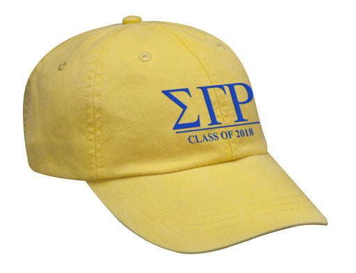 Sigma Gamma Rho Embroidered Hat with Custom Text
