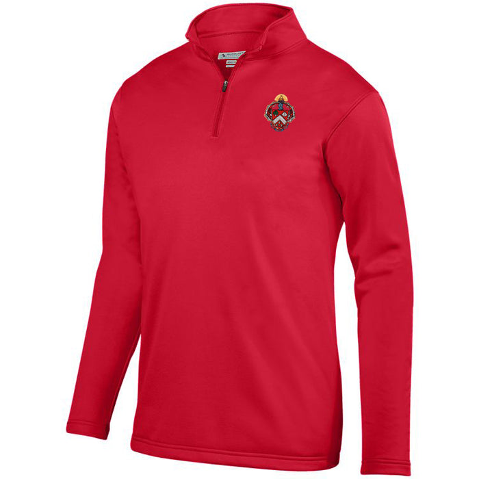 Triangle Crest Moisture Wicking Fleece Pullover