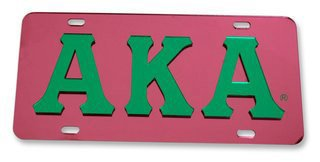 Alpha Kappa Alpha Mirrored License Plate Cover
