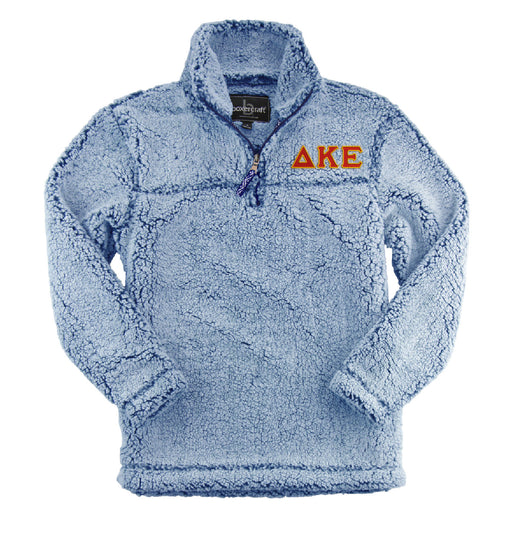 Delta Kappa Epsilon Embroidered Sherpa Quarter Zip Pullover