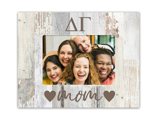 Delta Gamma Hearts Wood Picture Frame
