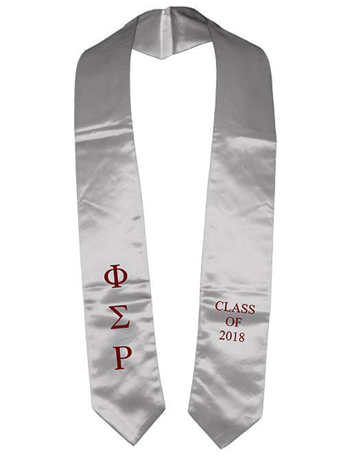 Phi Sigma Rho Classic Colors Embroidered Grad Stole
