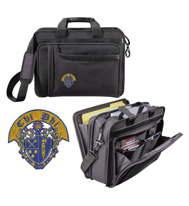 Chi Phi Attache Crest Briefcase