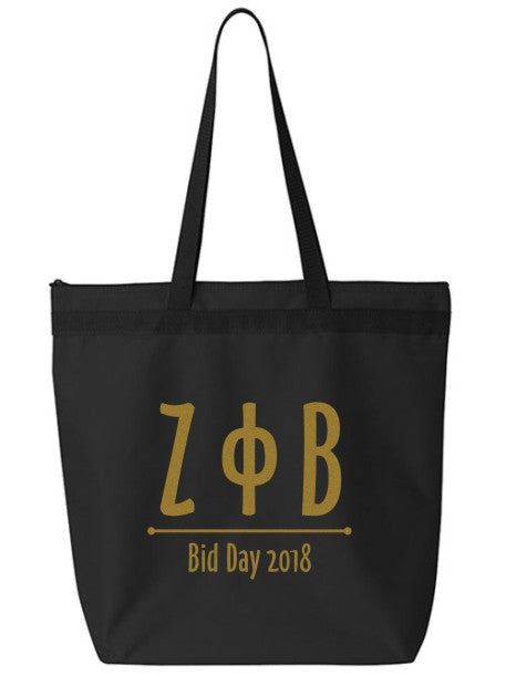 Zeta Phi Beta Oz Letters Event Tote Bag