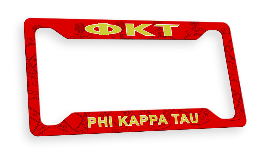 Phi Kappa Tau New License Plate Frame