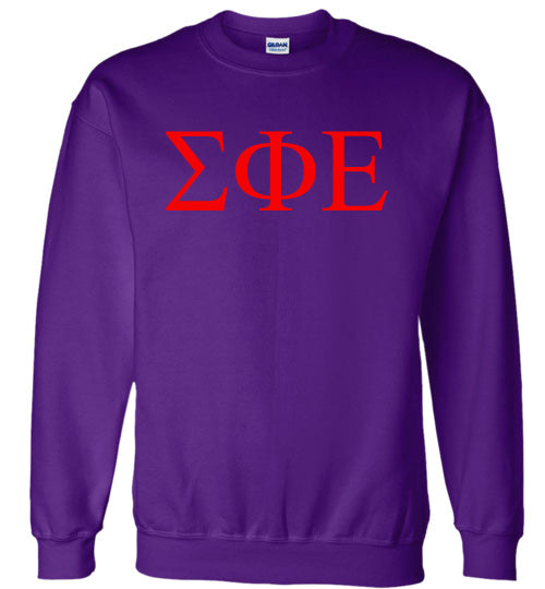 Sigma Phi Epsilon World Famous Lettered Crewneck Sweatshirt