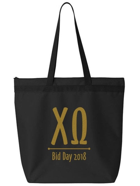 Chi Omega Oz Letters Event Tote Bag