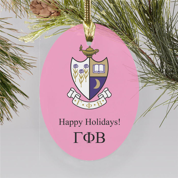 Gamma Phi Beta Color Crest Ornament