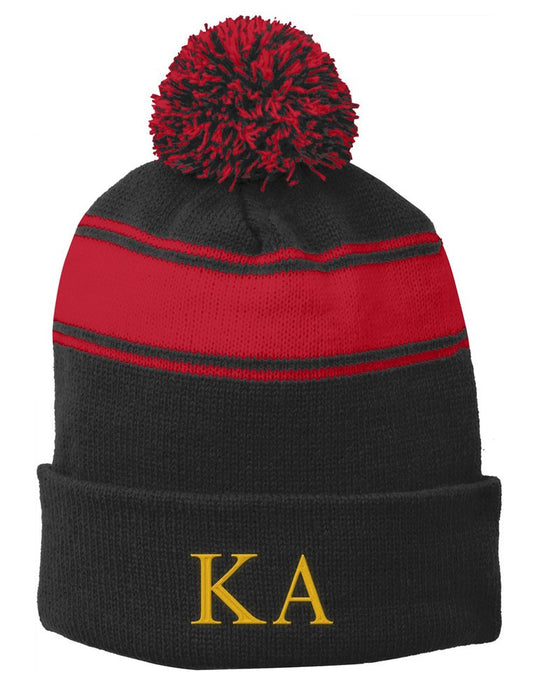 Kappa Alpha Embroidered Pom Pom Beanie