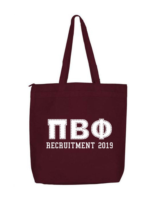 Pi Beta Phi Collegiate Letters Event Tote Bag