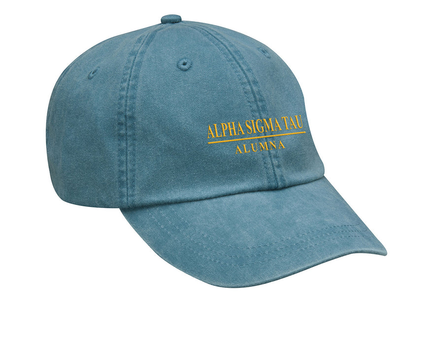 Alpha Sigma Tau Line Year Embroidered Hat