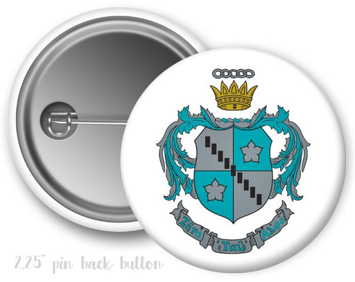 Zeta Tau Alpha Color Crest Button