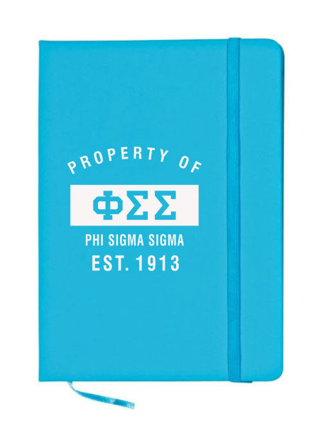 Phi Sigma Sigma Property of Notebook