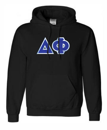 Delta Phi Lettered Hoodie