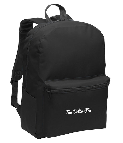 Tau Delta Phi Cursive Embroidered Backpack