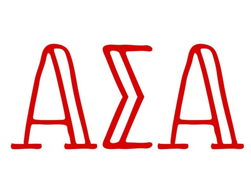 Alpha Sigma Alpha Inline Greek Letter Sticker - 2.5
