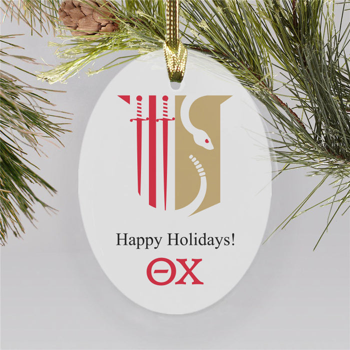 Theta Chi Color Crest Ornament