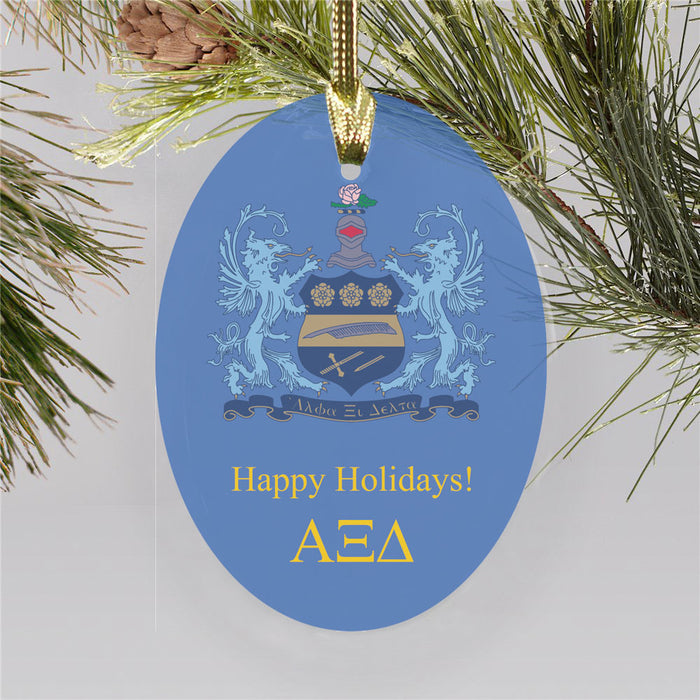 Alpha Xi Delta Color Crest Ornament