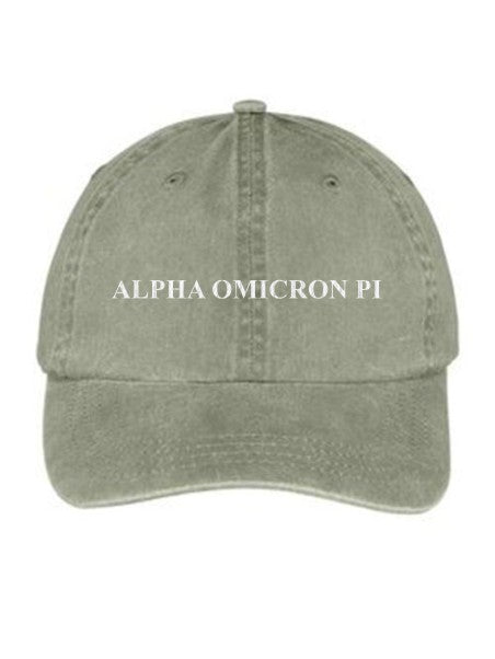 Alpha Omicron Pi Embroidered Hat