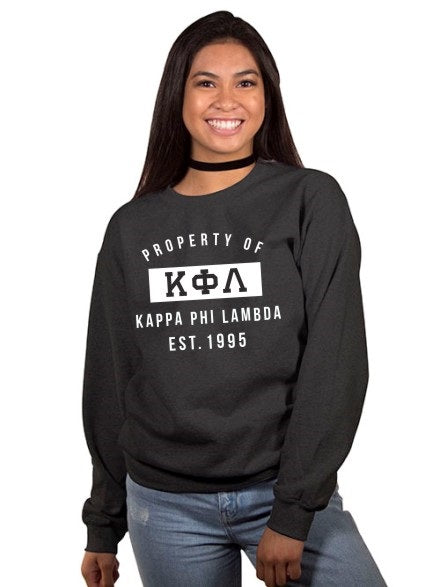 Kappa Phi Lambda Property of Crewneck Sweatshirt