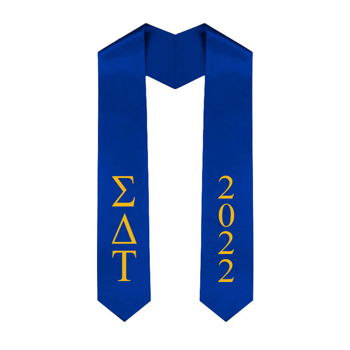 Sigma Delta Tau Vertical Grad Stole with Letters & Year