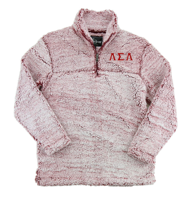 Alpha Sigma Alpha Embroidered Sherpa Quarter Zip Pullover