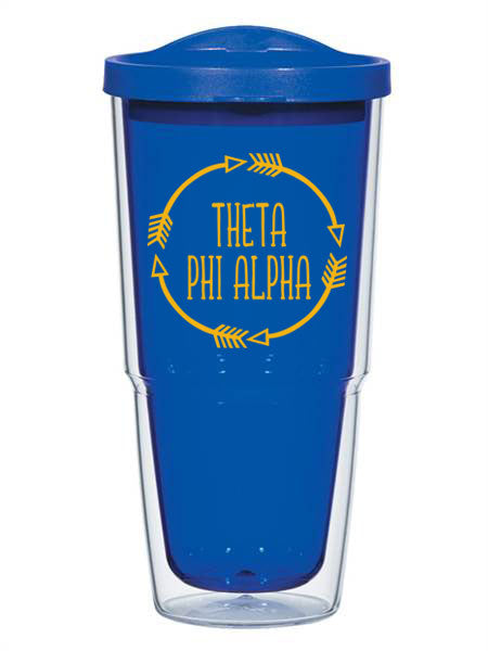Theta Phi Alpha Circle Arrows 24 oz Tumbler with Lid