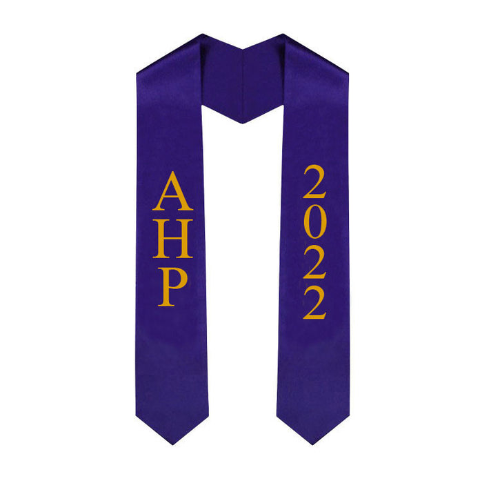 Alpha Eta Rho Vertical Grad Stole with Letters & Year