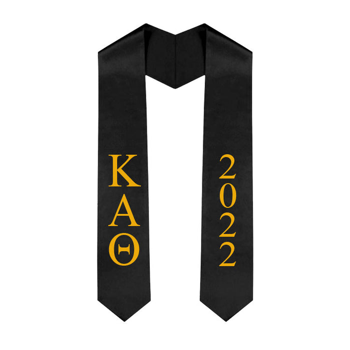 Kappa Alpha Theta Vertical Grad Stole with Letters & Year