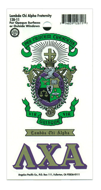 Lambda Chi Alpha Crest Decal