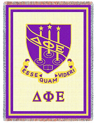 Delta Phi Epsilon Afghan Blanket Throw