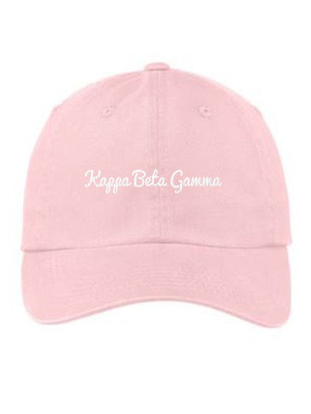 Kappa Beta Gamma Cursive Embroidered Hat